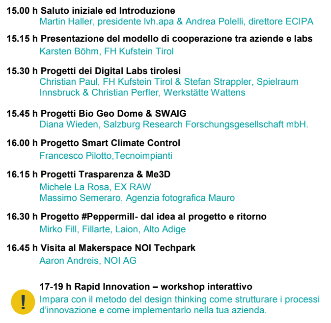 Programma workshop Labs.4.SMEs