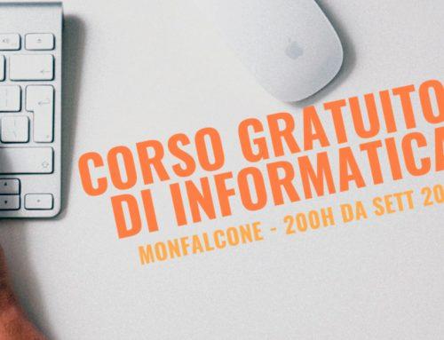 ULTIMI 3 POSTI PER IL CORSO GRATUITO DI INFORMATICA A MONFALCONE