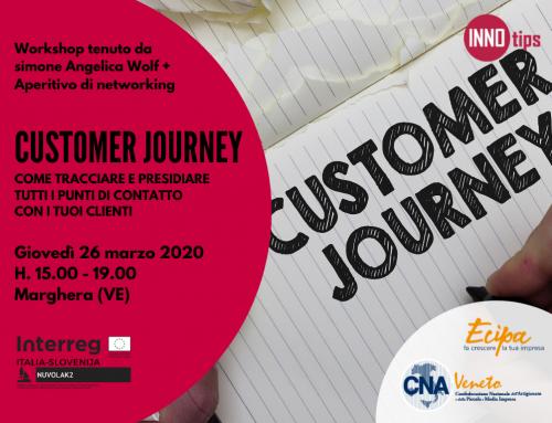 WORKSHOP | CUSTOMER JOURNEY: come tracciare e presidiare tutti i punti di contatto con i tuoi clienti