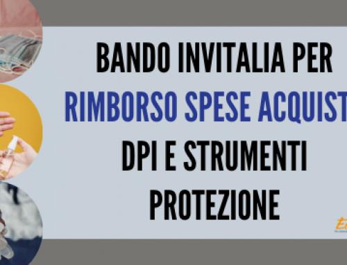 BANDO INVITALIA PER RIMBORSO SPESE ACQUISTO DPI E STRUMENTI PROTEZIONE