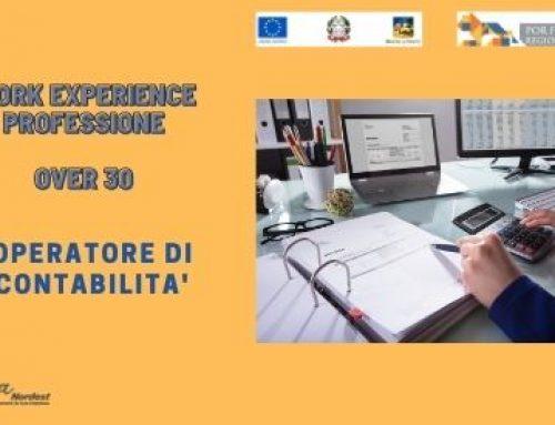 WORK EXPERIENCE | OVER 30 | OPERATORE DI CONTABILITA' – FINO AL 23 FEBBRAIO 2021