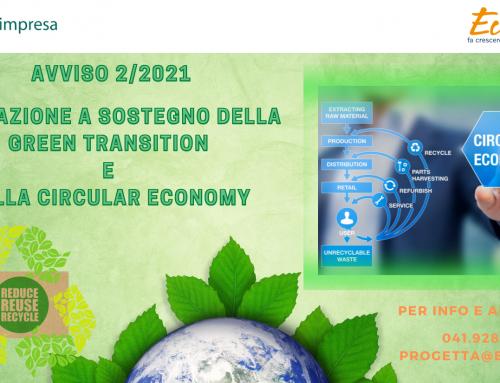 Fondimpresa | Conto di sistema Avviso 2/2021 | Formazione a sostegno della Green Transition e della Circular Economy